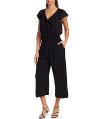 parker women's billie cropped jumpsuit - black - size 6
