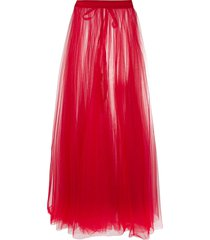 loulou high-waisted sheer maxi skirt - red