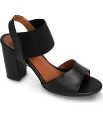 zapato tipo sandalia resorte - negro