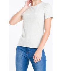 camiseta gola careca calvin klein - cinza mescla - pp