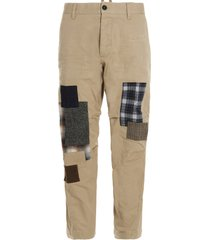 dsquared2 patchwork chino pants