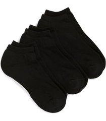 men's nordstrom men's shop 3-pack no-show athletic socks, size regular - black