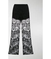 prada lace flared trousers