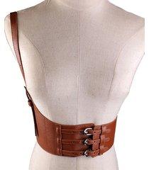 cintura elastica in vita da donna cinghia in pelle pu cintura da un lato accessori decorativi cintura da donna