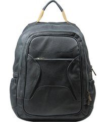 mochila de couro recuo fashion bag grafite