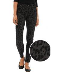 jeans legging leopardo negro gap