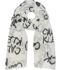 calvin klein graffiti logo scarf