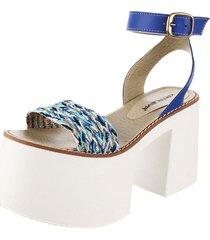 sandalia azul kataleya malayka