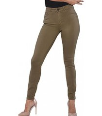 jeans tiro alto pitillo 3231 verde amalia jeans