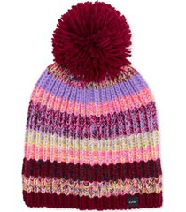 echo crazy marled-knit pom pom hat