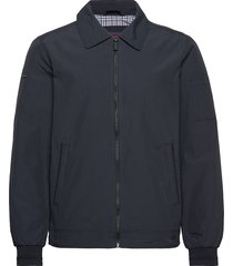 collared harrington bomberjack jack blauw superdry