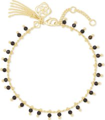 kendra scott gold-tone jenna stone link bracelet