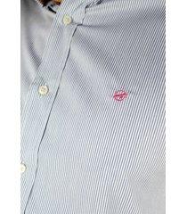 camisa azul manga larga para hombre - ccm049