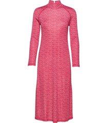 leiri unikko dress jurk knielengte roze marimekko