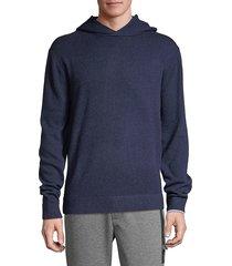 greyson men's koko merino wool cashmere hoodie - pebble - size xl