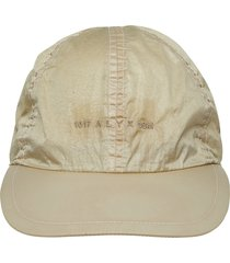 men's 1017 alyx 9sm buckle logo embroidered baseball cap - beige