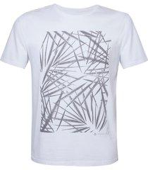 camiseta dudalina careca folhagem masculina (cinza mescla escuro, gg)