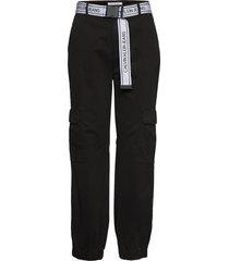 belted cargo pant casual broek zwart calvin klein jeans