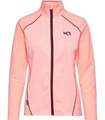 kari f/z fleece sweat-shirts & hoodies fleeces & midlayers rosa kari traa