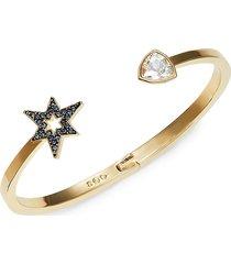 women's mastery goldplated & swarovski crystal cuff bracelet