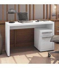 mesa escrivaninha home urban 1 porta 1 gaveta s970 branco - kappesberg