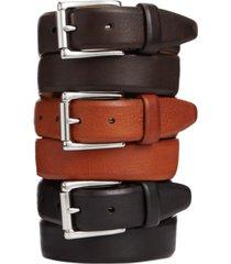 cole haan burnished edge roller-buckle belt