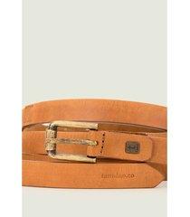 cinturón para mujer unifaz de cuero bloques