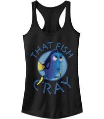 disney pixar juniors' finding dory i am cray ideal racerback tank top