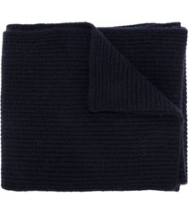 n.peal chunky ribbed scarf - blue