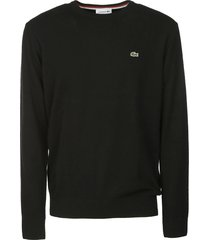 lacoste logo patched sweater