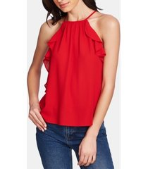 1.state ruffle-trim halter top