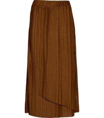 sc-kirit knälång kjol brun soyaconcept