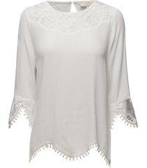 kalanie blouse blouse lange mouwen wit cream