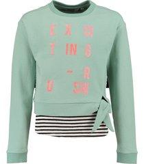 garcia korte zachte sweater met losse top