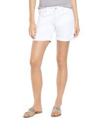 women's mavi jeans pixie cuffed denim shorts, size 29 - white
