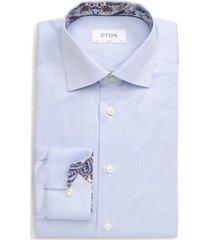 men's eton slim fit solid dress shirt