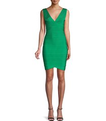 herve leger women's mini bandage dress - turquoise - size xxs