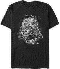 star wars men's classic darth vader helmet short sleeve t-shirt