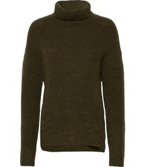 11 the knit rollneck turtleneck polotröja grön denim hunter