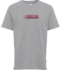 split t-shirt t-shirts short-sleeved grå wood wood