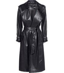 alice + olivia nevada vegan leather coat