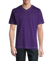 robert graham men's maxfield cotton t-shirt - purple - size xl