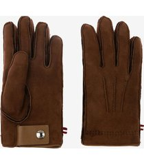 shearling gloves brown 43