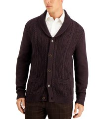tasso elba men's chunky marbled cardigan, created for macy's