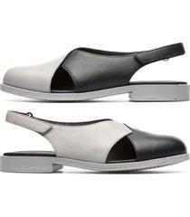 camper twins, sandali donna, grigio/nero, misura 42 (eu), k200600-002
