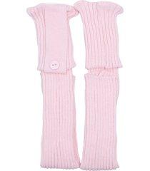 polaina ayron fitness max lã com botão rosa claro - kanui