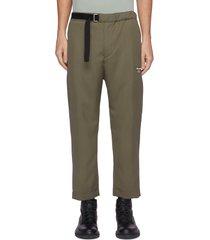 belted drop crotch crop pants