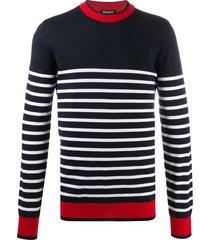 balmain horizontal-stripe jumper - blue