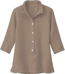 lichte linnen blouse, modder 46