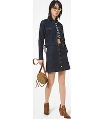 mk gonna in denim a vita alta - dk rinse wsh - michael kors